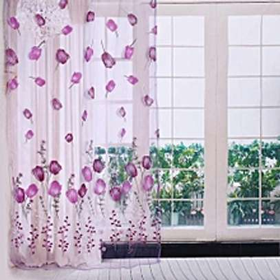 100x200cm Printing Tulle Curtains Sheer Drape Window image 1