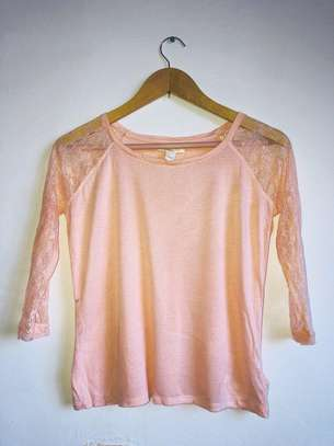 Forever 21 Lace Sleeved Top