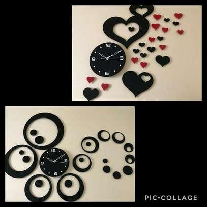 3D Star Crowd Acrylic Wall Clock image 1