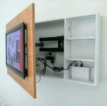 Wooden Wall Fixed Tv Stand