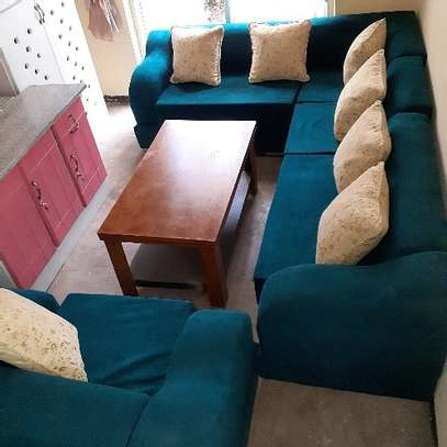 New L-shape sofa with table image 1