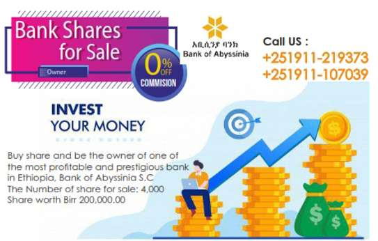 Bank of Abyssinia Shares for sale