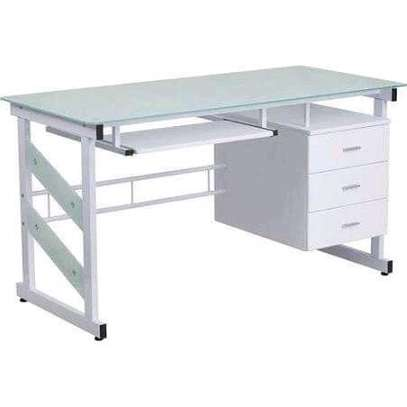 White Single Office Desk