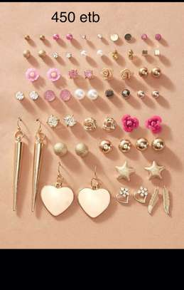 30 Pairs Rhinestone Earrings Sets image 1