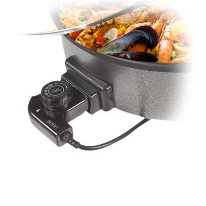 Multi Purpose Pizza And Frying Pan With Glass Lid