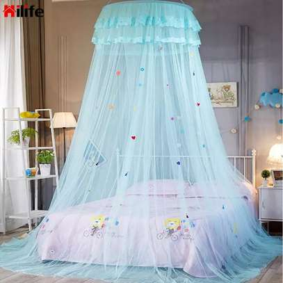 Easy to Install Kids Baby Bedding Dome Bed Netting Canopy  Lace Bed Canopy Dome hanging mosquito net Girls Room Decor image 6