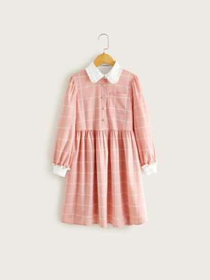 Kids Front Plaid Dress