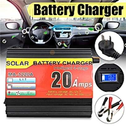 LCD Car Motorcycle Battery Charger image 1