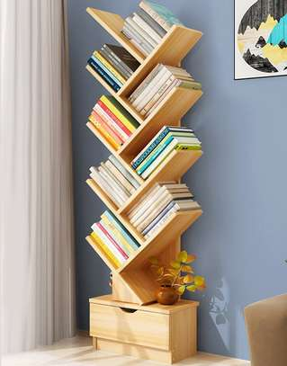 Simple and stylish space saving book organizer shelf