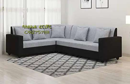 L shaped  fabric sofa