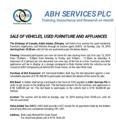 Vehicles, furniture & appliances