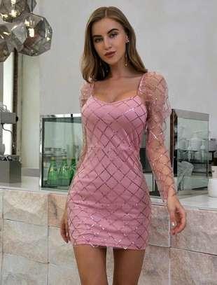Plaid Mesh Luxury Dress