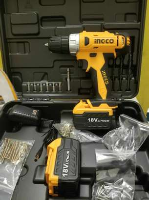 #INCGO Chargeable Drill 18v with Box   ዋጋ #4995_Birr   #53Pcs Accessories + Free   #Tow Speed   #LED Light   #Variable Speed   #Battery Power Indicator   ?without box??? #INGCO_RECHARGEABLE_DRILL  #Power_12v. #3400_Birr #Power_18v. #3650_Birr #Power_20v. #4750_Birr ? : ያሉን እቃዎች ውስን ስለሆኑ ፈጥነው ይዘዙን  ? : ➕Free delivery ፡። ? : ያሉበት በነጻ እናደርሳለን  ☎️ :