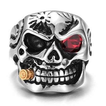 3d Terminator skull ring image 1