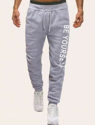 Men Drawstring Waist Letter Print Sweatpants