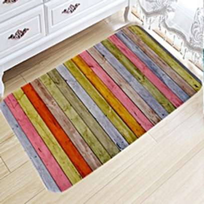 Decorative Wooden Pattern Carpet Floor Non Slip Mat image 1