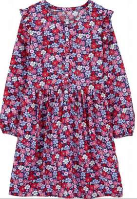 Carter's Red Floral Dress image 1