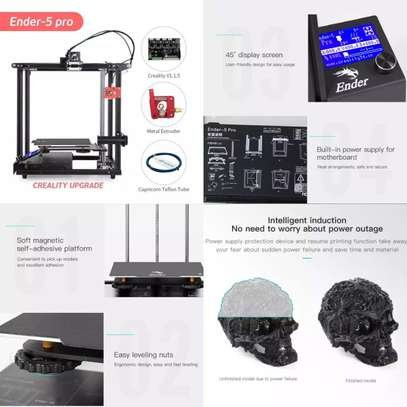 CREALITY Ender-5 Pro 3D Printer; Silent Board Pre-installed; Magnetic Build Plate; Power off Resume Printing; Enclosed Structure image 3