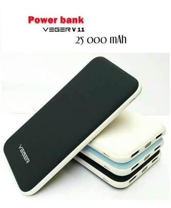 Power Bank 25000 mAh 2 USB Out Put - Veger V11 - Black/brown / white