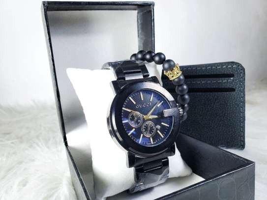 Gucci Men's Watch + Free Wallet image 1