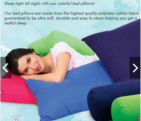 King extra soft  Solid Colorfull  Bed Pillows 100% cotton cover regular size