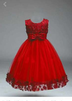 Red Color Toddler Girls Party Dress