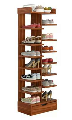 Multifunctional 6 Tier Living Room Bookshelf Shoe Cabinet
