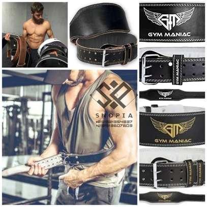 Adjustable Leather Weight Lifting Waist GYM Belt image 1
