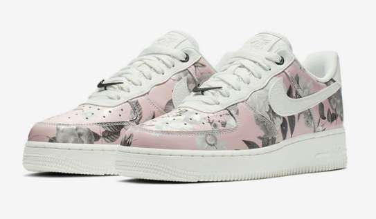 Nike Custom Air Force 1 Low White Floral Shoes image 1