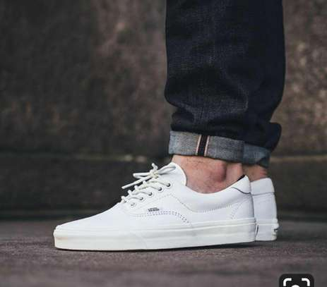 Van's white leather Shoes