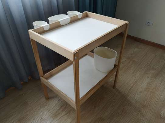 Baby change table bed