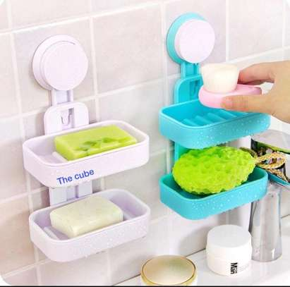 Double Layer Soap Dish Suction Cup