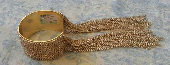 Gold Fringe Chain Bracelet