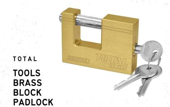 Brass Block Padlock image 1