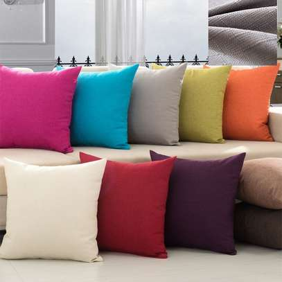 40 x 40 Decorative Pillows Solid Plain Red Blue Green Gray filled Cushion Bed Sofa Chair Seat image 3
