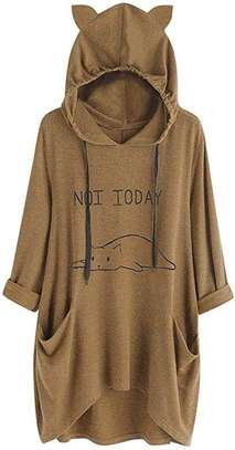Not Today Cat Rikay Women's Long Tops image 1