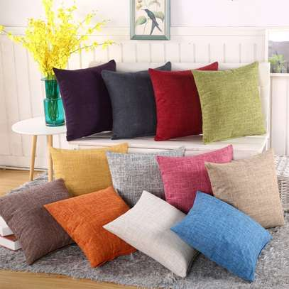 40 x 40 Decorative Pillows Solid Plain Red Blue Green Gray filled Cushion Bed Sofa Chair Seat