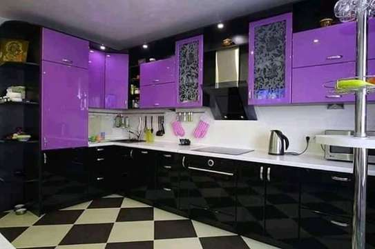 Black With Purple Complete Kitchen