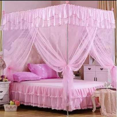 Mosquito Net with Metallic Stand - pink
