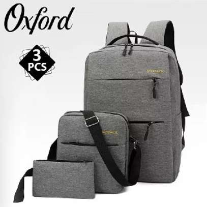 Backpack quality bag  3 pcs  price 1299 free delivery contact as image 2
