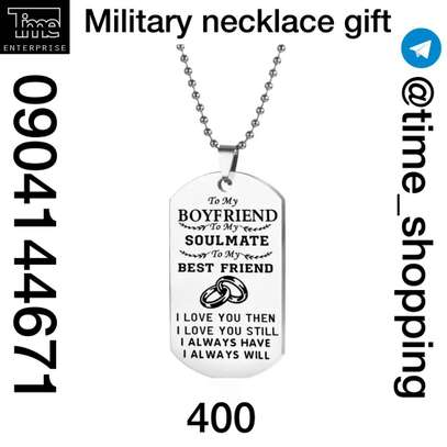 Military Necklace Gift