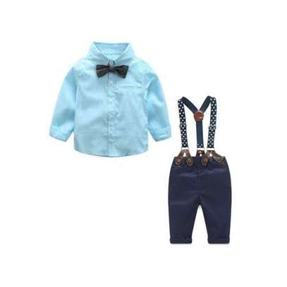 Classy Three-piece Baby Boy Casual Suit with Soft image 1