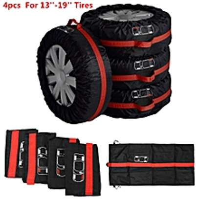 4pc Car Seasonal Spare Tyre Tire Protection Cover