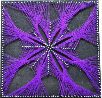 Purple String Art
