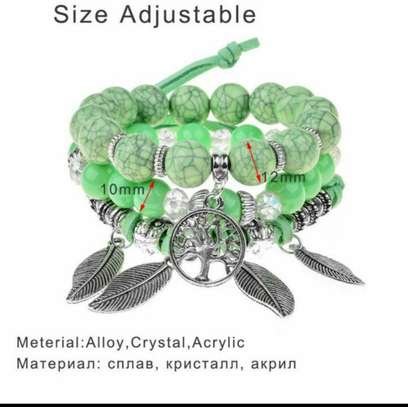 Crystal Acrylic Multilayer Ladies Bracelet