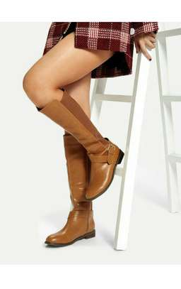 Buckle Decor Knee High Boots image 1
