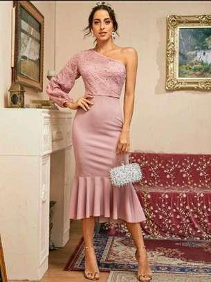 Pink New Fashion Women Brand Full Dress