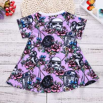 Cotton Toddler Kids Baby Girls short Sleeve Party image 1
