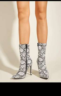 Snakeskins Graphic Heeled Boots