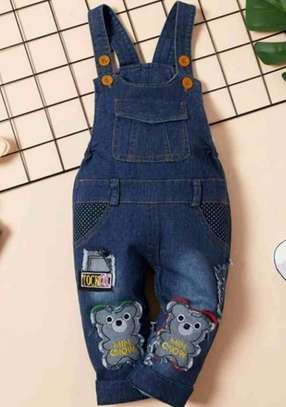 Todder Boys Cartoon Patched Flap Pockets Overall